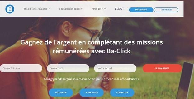 Ba-click - Site pour gagner de l'argent