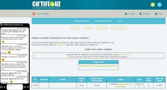 chtiflouz - Site pour gagner de l'argent