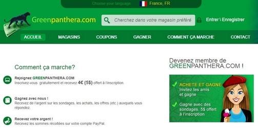 greenpanthera - Site pour gagner de l'argent